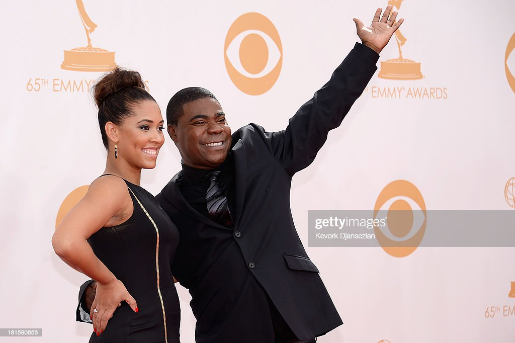 Actor Tracy Morgan ( R) arrives at the 65th Annual Primetime Emmy Awards held at Nokia Theatre L.A. Live on September 22, 2013 in Los Angeles, California.
