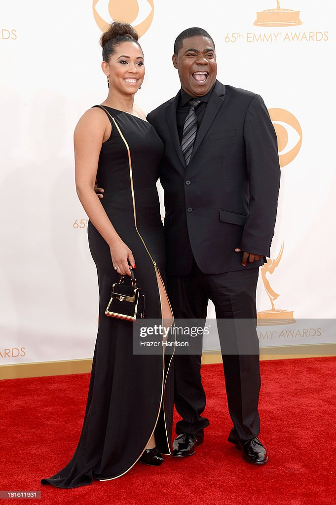 Actor Tracy Morgan (R) arrives at the 65th Annual Primetime Emmy Awards held at Nokia Theatre L.A. Live on September 22, 2013 in Los Angeles, California.
