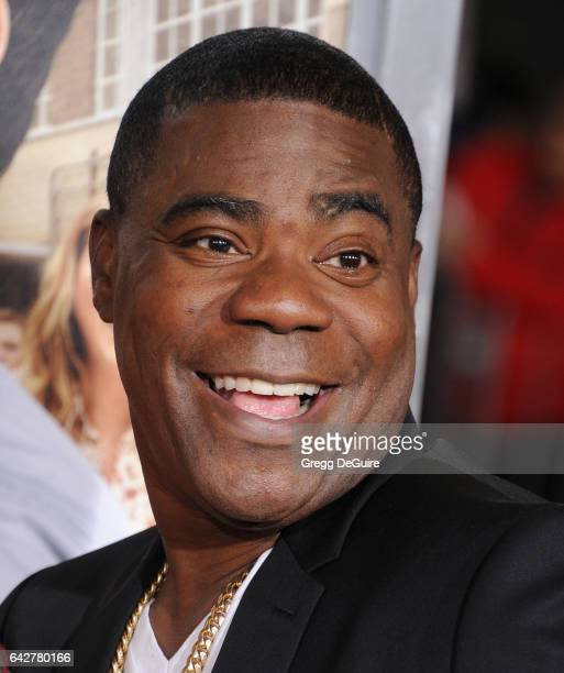 Actor Tracy Morgan arrives at the premiere of Warner Bros Pictures' 'Fist Fight' at Regency Village Theatre on February 13 2017 in Westwood California