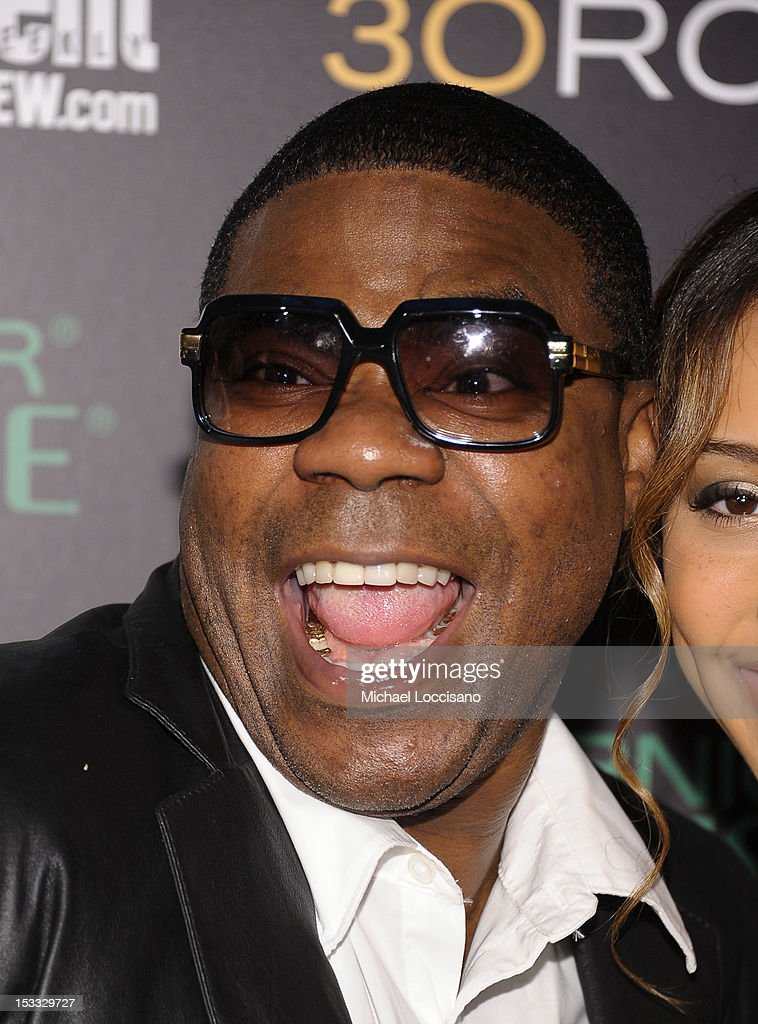 Actor <a gi-track='captionPersonalityLinkClicked' href=/galleries/search?phrase=Tracy+Morgan&family=editorial&specificpeople=182428 ng-click='$event.stopPropagation()'>Tracy Morgan</a> attends Entertainment Weekly and NBC's celebration of the final season of 30 Rock sponsored by Garnier Nutrisse on October 3, 2012 in New York City.