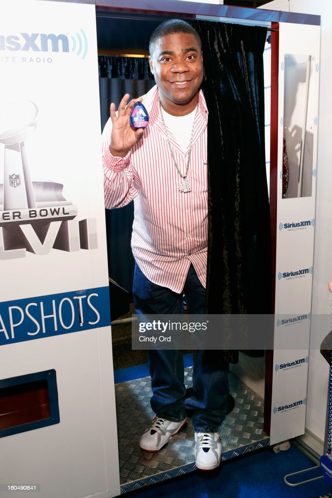 Actor <a gi-track='captionPersonalityLinkClicked' href=/galleries/search?phrase=Tracy+Morgan&family=editorial&specificpeople=182428 ng-click='$event.stopPropagation()'>Tracy Morgan</a> attends SiriusXM's Live Broadcast from Radio Row during Bowl XLVII week on February 1, 2013 in New Orleans, Louisiana.