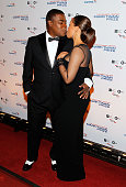 Actor Tracy Morgan gives his wife Megan Wollover a kiss at the 18th Annual Mark Twain Prize for Humor at The John F Kennedy Center for Performing...