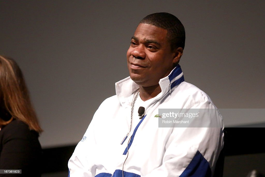 Actor Tracy Morgan on stage at Tribeca Talks The Artist's Angle 'Richard Pryor Omit The Logic' during the 2013 Tribeca Film Festival on April 24 2013...