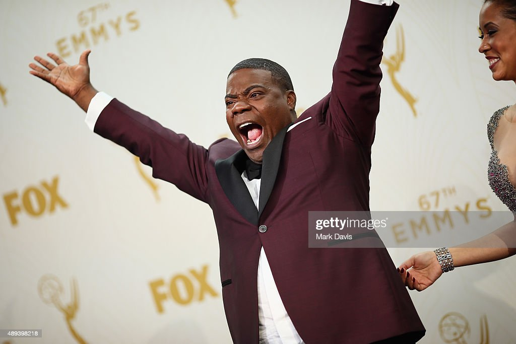 Actor Tracy Morgan poses in the press room at the 67th Annual Primetime Emmy Awards at Microsoft Theater on September 20 2015 in Los Angeles...
