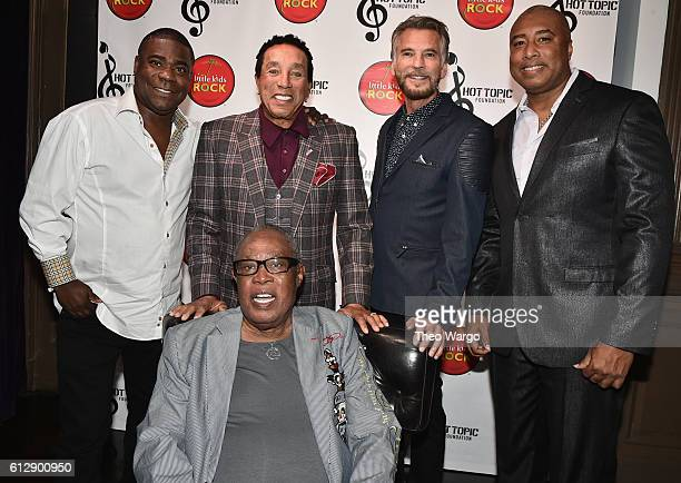 Actor Tracy Morgan singersongwriter Smokey Robinson singer Kenny Loggins baseball player Bernie Williams and singer Sam Moore attend Little Kids Rock...