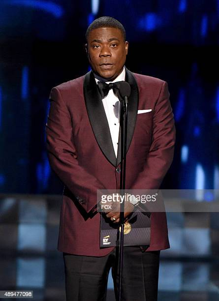 Actor Tracy Morgan speaks onstage during the 67th Annual Primetime Emmy Awards at Microsoft Theater on September 20 2015 in Los Angeles California