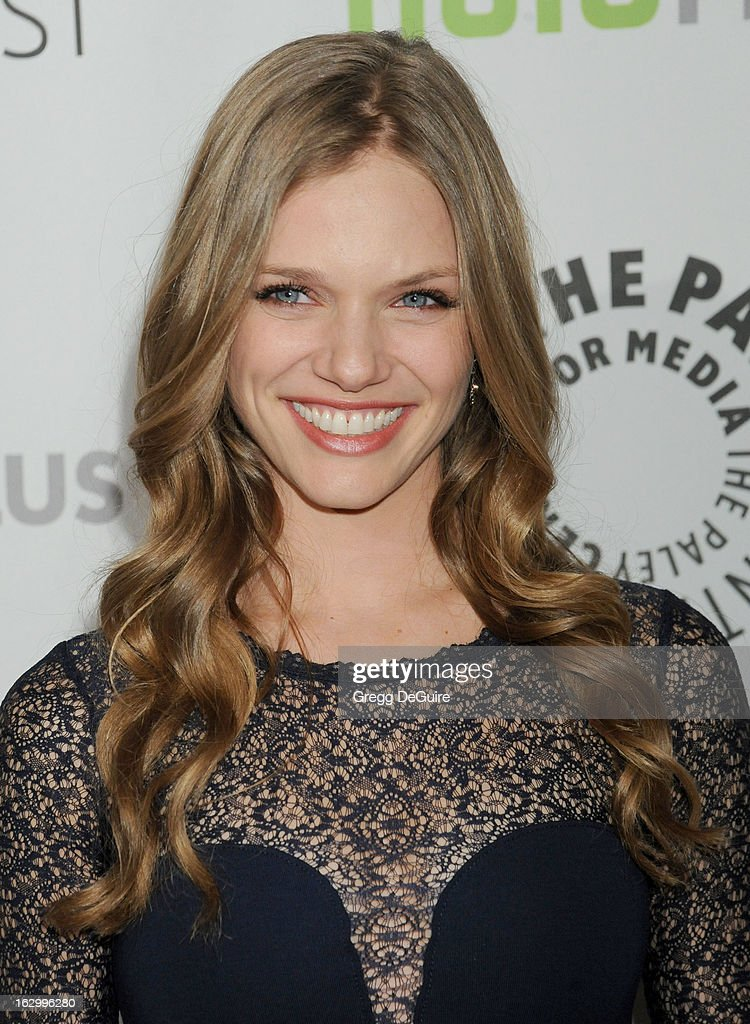Actor Tracy Spiridakos arrives at the 30th Annual PaleyFest: The William S. Paley Television Festival featuring 'Revolution' at Saban Theatre on March 2, 2013 in Beverly Hills, California.