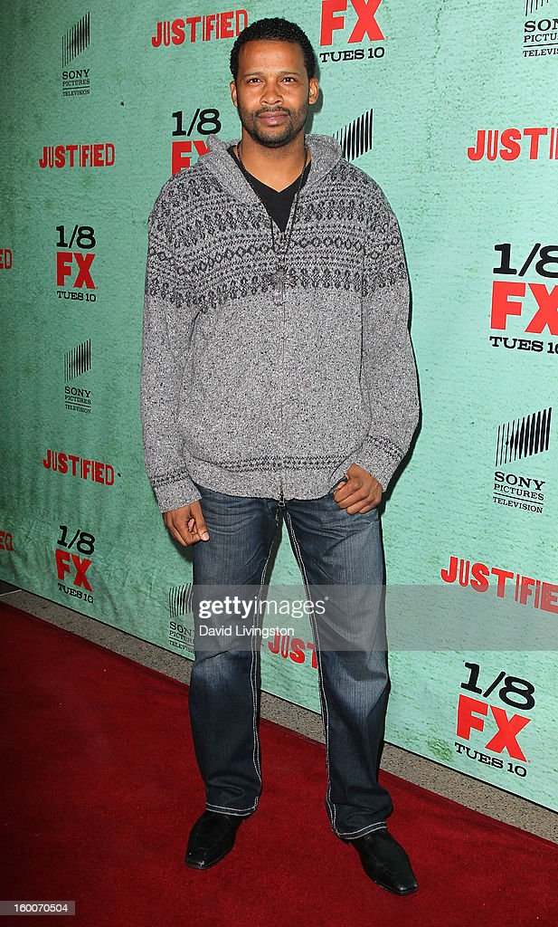 Actor Trae Ireland attends the premiere of FX's 'Justified' Season 4 at the Paramount Theater on the Paramount Studios lot on January 5, 2013 in Hollywood, California.