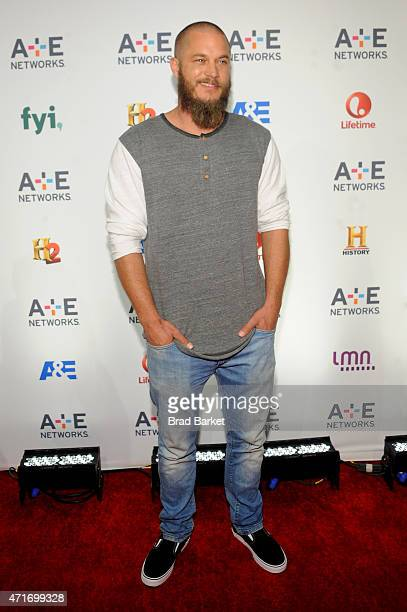 Actor Travis Fimmel attends 2015 AE Networks Upfront on April 30 2015 in New York City
