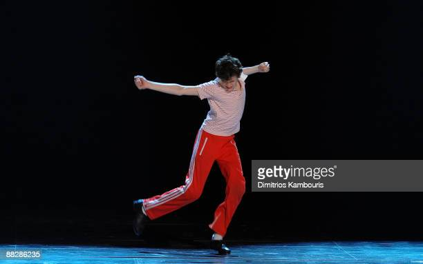 Actor Trent Kowalik performs with the cast of 'Billy Elliot' on stage during the 63rd Annual Tony Awards at Radio City Music Hall on June 7 2009 in...