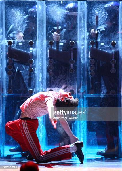 Actor Trent Kowalik performs with the cast of 'Billy Elliot' onstage during the 63rd Annual Tony Awards at Radio City Music Hall on June 7 2009 in...