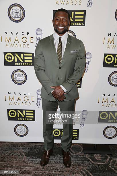 Actor Trevante Rhodes arrives at the 48th NAACP Image Awards Nominees' Luncheon at Loews Hollywood Hotel on January 28 2017 in Hollywood California