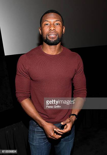 Actor Trevante Rhodes attends 'Moonlight' Atlanta screening at AMC Phipps Plaza on October 18 2016 in Atlanta Georgia