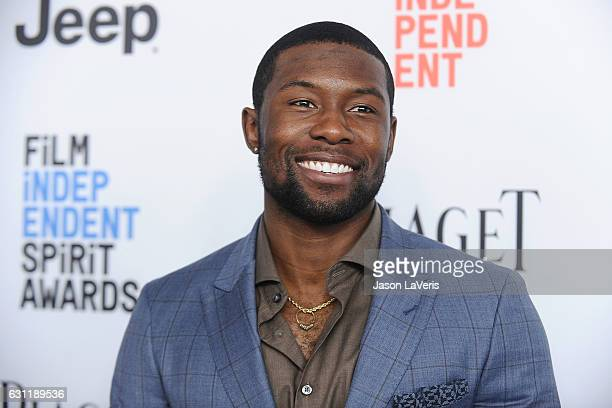 Actor Trevante Rhodes attends the 2017 Film Independent filmmaker grant and Spirit Award nominees brunch at BOA Steakhouse on January 7 2017 in West...