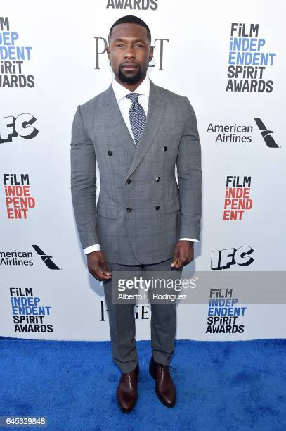 Actor Trevante Rhodes attends the 2017 Film Independent Spirit Awards at the Santa Monica Pier on February 25 2017 in Santa Monica California