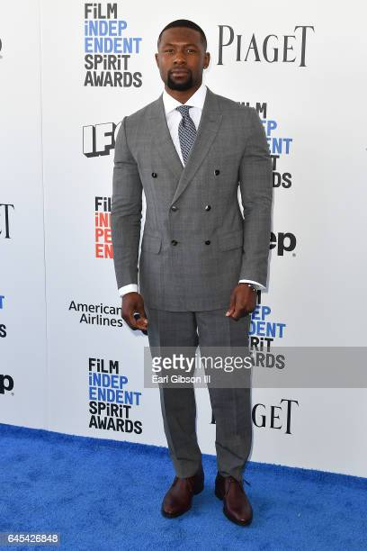Actor Trevante Rhodes attends the 2017 Film Independent Spirit Awards on February 25 2017 in Santa Monica California
