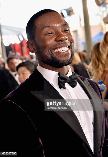 Actor Trevante Rhodes attends The 23rd Annual Screen Actors Guild Awards at The Shrine Auditorium on January 29 2017 in Los Angeles California...