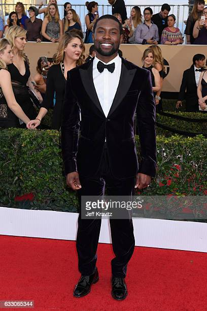 Actor Trevante Rhodes attends the 23rd Annual Screen Actors Guild Awards at The Shrine Expo Hall on January 29 2017 in Los Angeles California