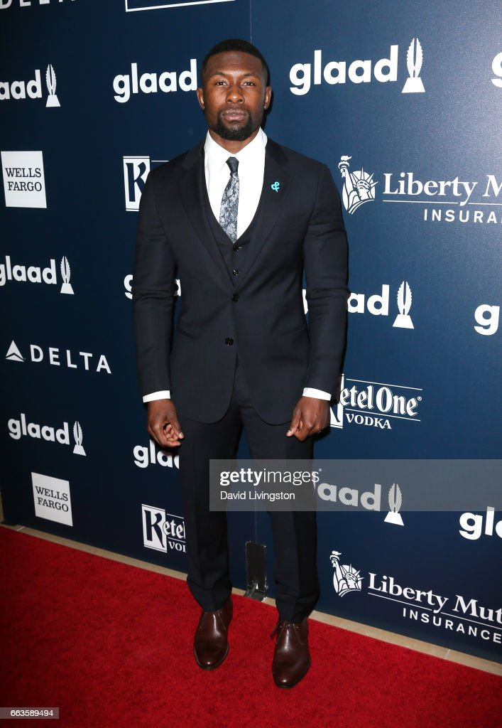 Actor Trevante Rhodes attends the 28th Annual GLAAD Media Awards at The Beverly Hilton Hotel on April 1, 2017 in Beverly Hills, California.