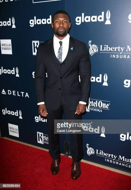 Actor Trevante Rhodes attends the 28th Annual GLAAD Media Awards at The Beverly Hilton Hotel on April 1 2017 in Beverly Hills California