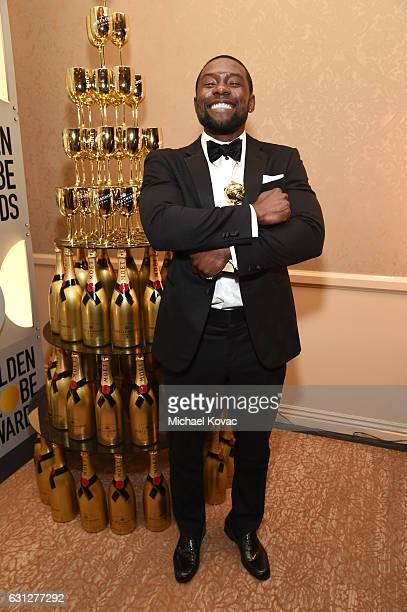 Actor Trevante Rhodes attends the 74th Annual Golden Globe Awards at The Beverly Hilton Hotel on January 8 2017 in Beverly Hills California