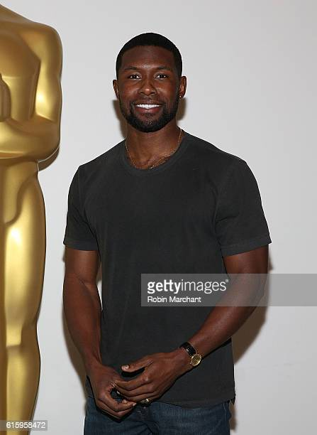 Actor Trevante Rhodes attends The Academy of Motion Picture Arts and Sciences hosts an Official Academy screening of MOONLIGHT at MOMA on October 20...