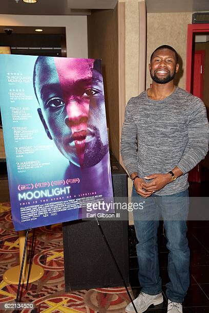 Actor Trevante Rhodes attends the ICON MANN Host Special Screening And QA of 'Moonlight' at AMC Century City 15 theater on November 9 2016 in Century...