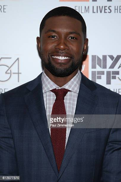 Actor Trevante Rhodes attends the 'Moonlight' premiere during the 54th New York Film Festival at Alice Tully Hall Lincoln Center on October 2 2016 in...