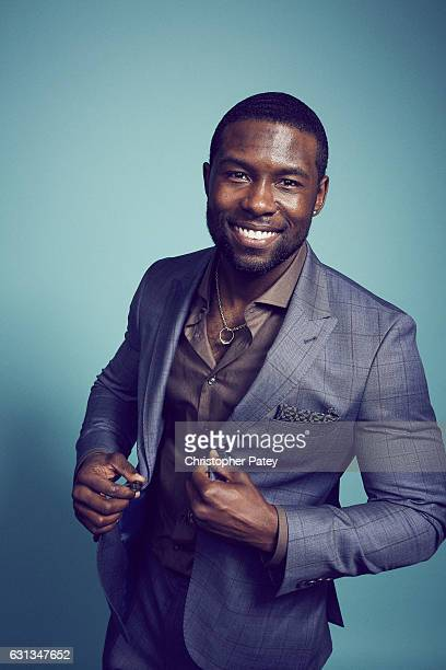 Actor Trevante Rhodes poses for a portrait 2017 Film Independent filmmaker grant and Spirit Award nominees brunch at BOA Steakhouse on January 7 2017...