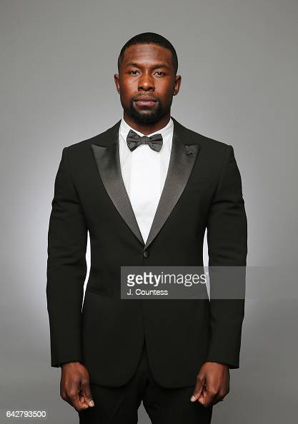 Actor Trevante Rhodes poses for a portrait for BET's 2017 American Black Film Festival Honors Awards at The Beverly Hilton Hotel on February 17 2017...