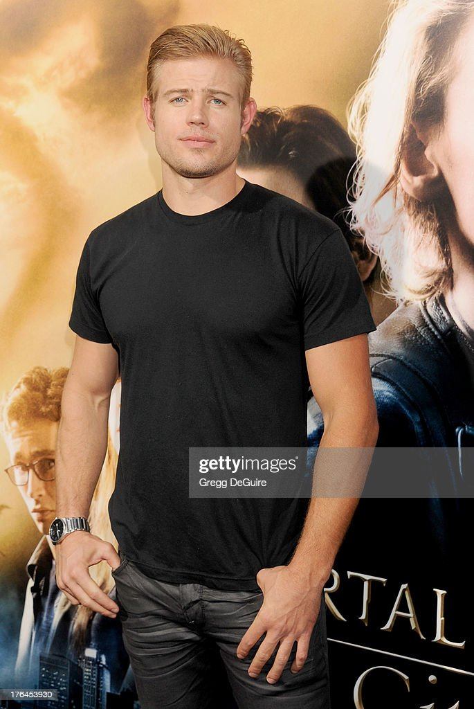 Actor Trevor Donovan arrives at the Los Angeles premiere of 'The Mortal Instruments: City Of Bones' at ArcLight Cinemas Cinerama Dome on August 12, 2013 in Hollywood, California.