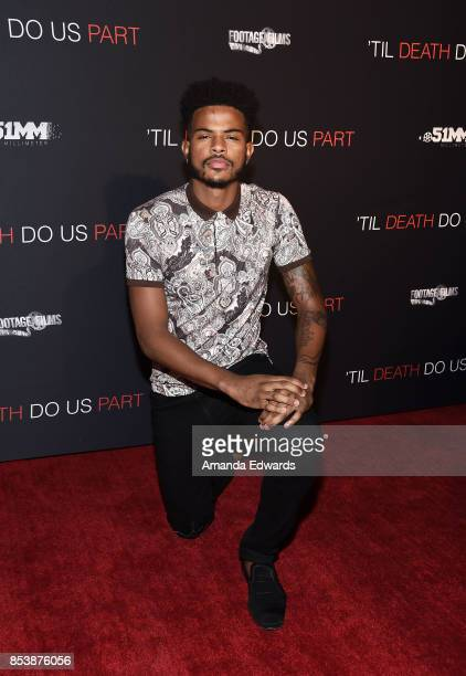 Actor Trevor Jackson arrives at the premiere of Novus Content's 'Til Death Do Us Part' at The Grove on September 25 2017 in Los Angeles California