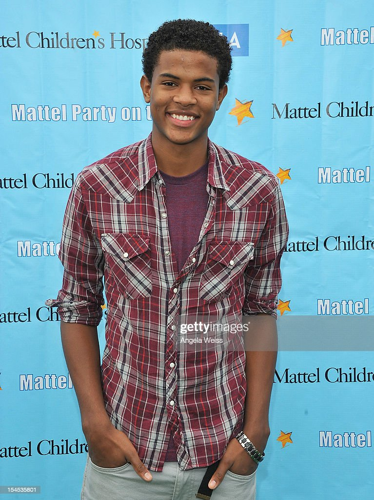 Actor Trevor Jackson arrives to the 'Mattel Party on the Pier' benefiting Mattel Children's Hospital UCLA at Pacific Park on the Santa Monica Pier on October 21, 2012 in Santa Monica, California.
