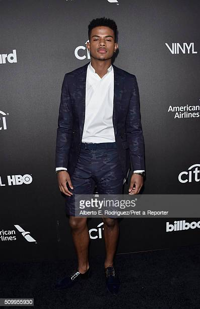 Actor Trevor Jackson attends the 2016 Billboard Power 100 Celebration at Bouchon on February 12 2016 in Beverly Hills California
