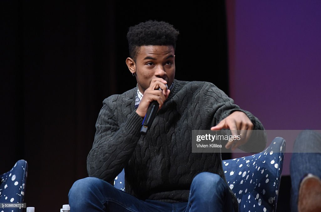 Actor Trevor Jackson speaks on stage during 'American Crime' event during aTVfest 2016 presented by SCAD on February 5, 2016 in Atlanta, Georgia.