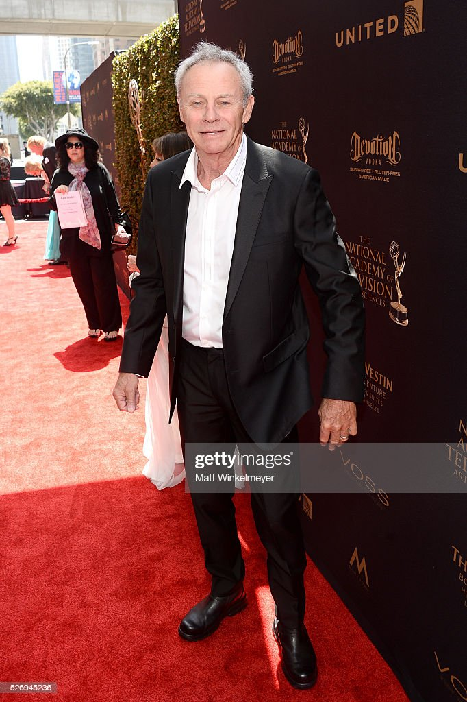 Actor Tristan Rogers walks the red carpet at the 43rd Annual Daytime Emmy Awards at the Westin Bonaventure Hotel on May 1, 2016 in Los Angeles, California.