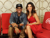 Actor Tristan Wilds and TV personality Adrianna Costa pose during the 40th Anniversary American Music Awards nominations press conference at the JW...