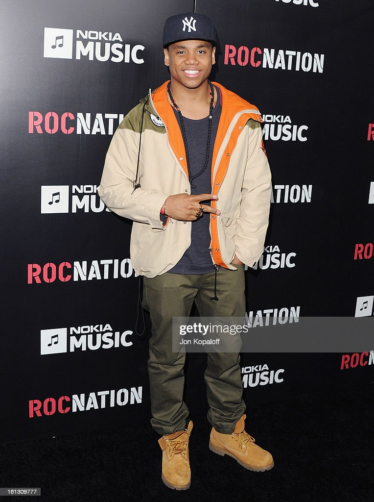 Actor Tristan Wilds arrives at Roc Nation Hosts Annual Private Pre-GRAMMY Brunch at Soho House on February 9, 2013 in West Hollywood, California.
