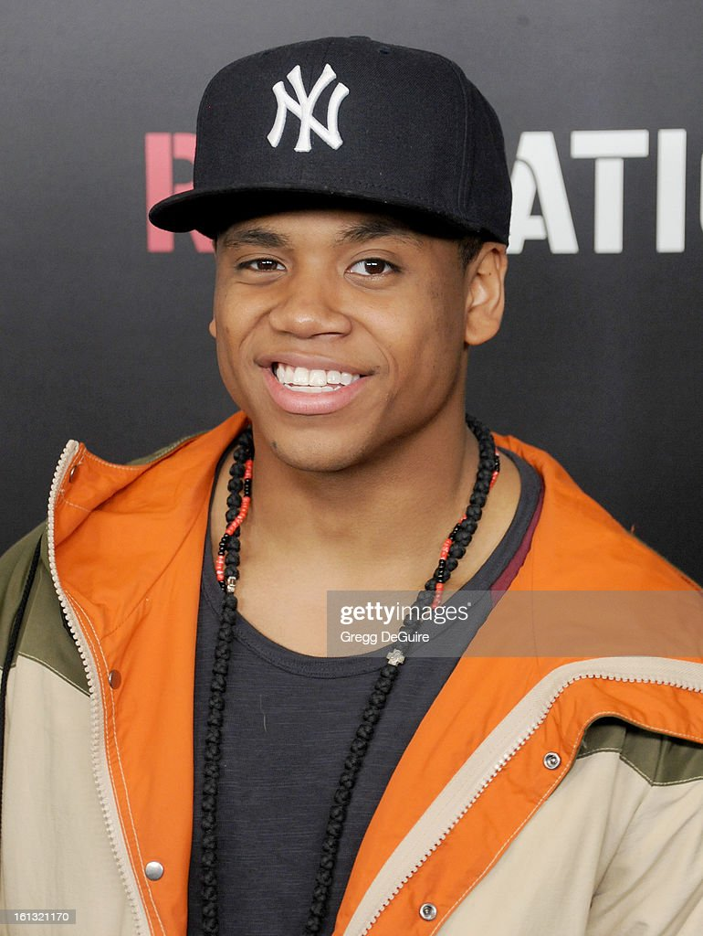 Actor Tristan Wilds, arrives at Roc Nation Pre-GRAMMY brunch at Soho House on February 9, 2013 in West Hollywood, California.