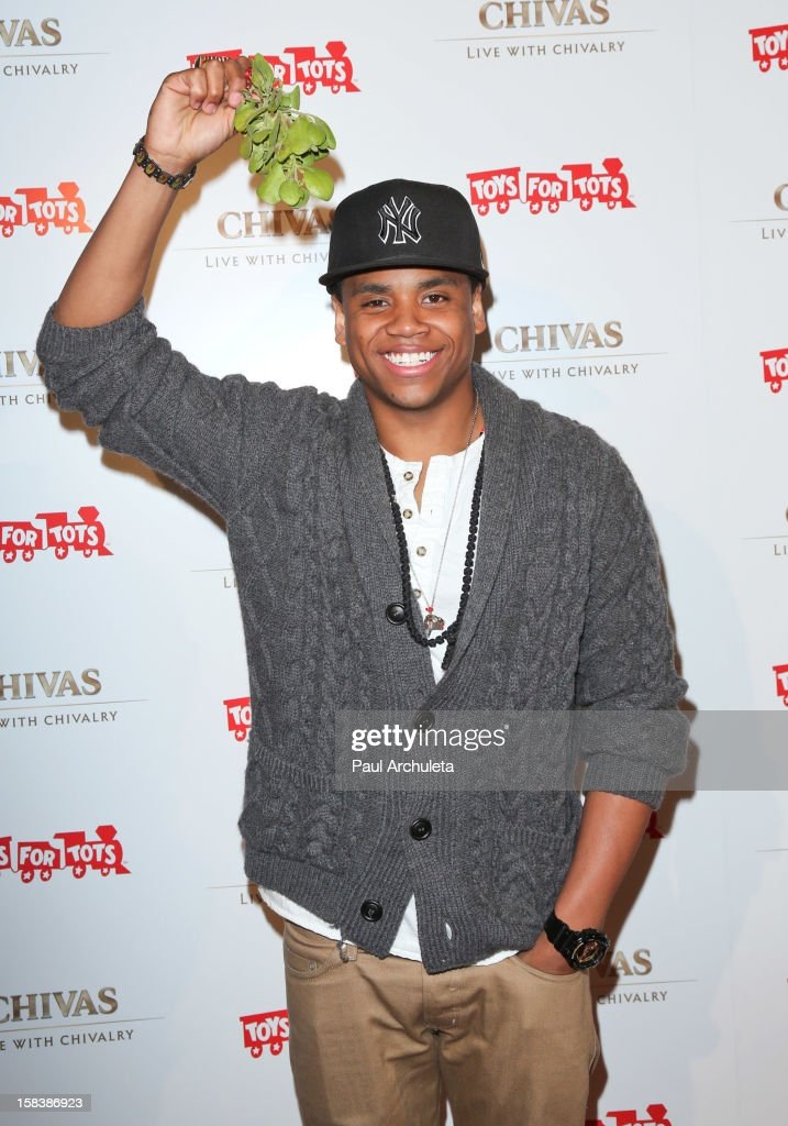 Actor Tristan Wilds attends the 'Under The Mistletoe' charity event benefiting the Toys For Tots Foundation at the Lexington Social House on December 14, 2012 in Hollywood, California.