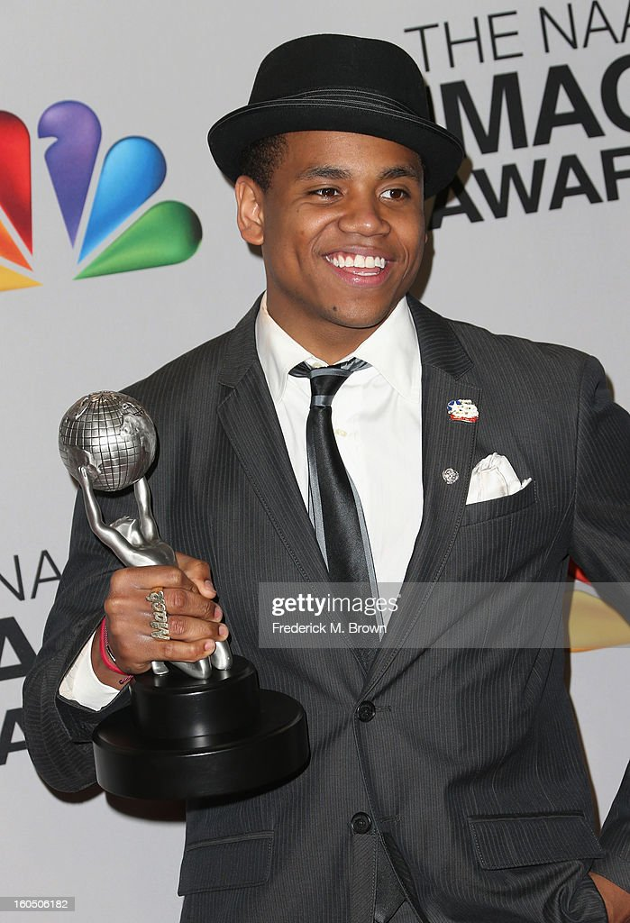 Actor Tristan Wilds of Outstanding Motion Picture winner 'Red Tails' poses in the press room during the 44th NAACP Image Awards at The Shrine...