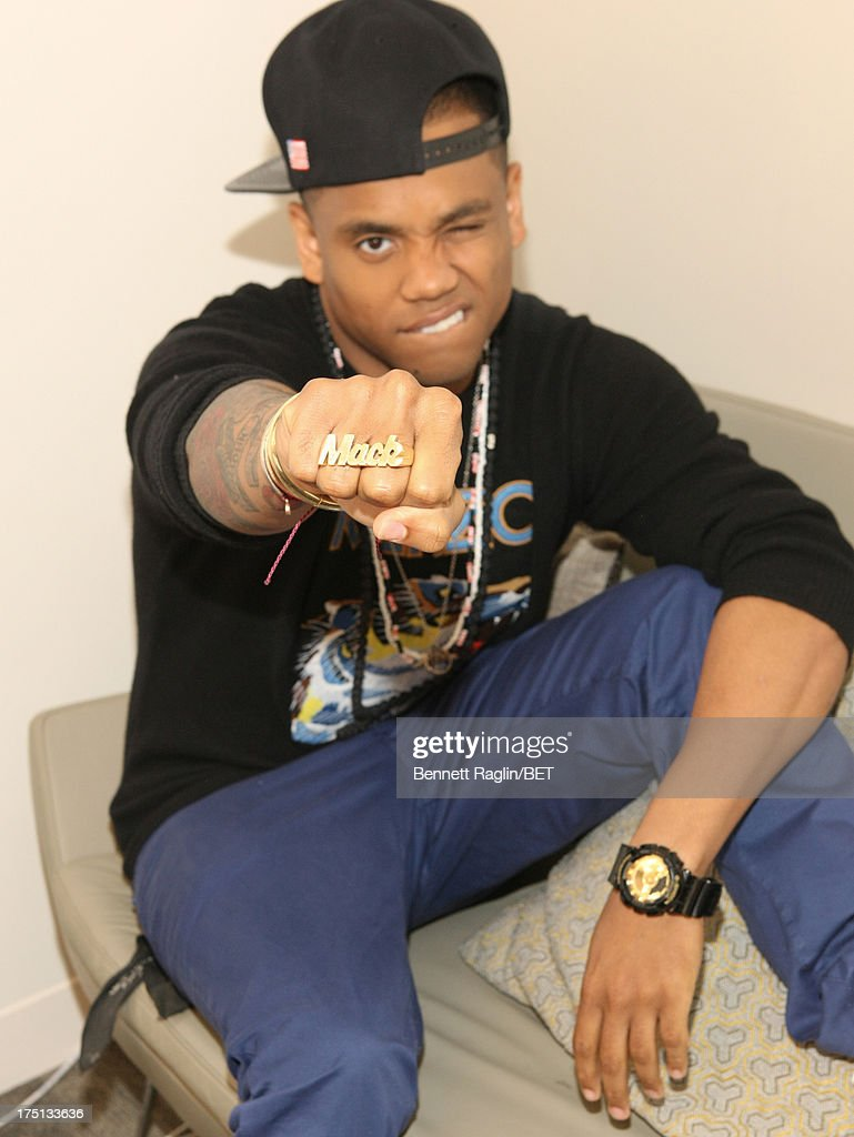 Actor <a gi-track='captionPersonalityLinkClicked' href=/galleries/search?phrase=Tristan+Wilds&family=editorial&specificpeople=3025356 ng-click='$event.stopPropagation()'>Tristan Wilds</a> poses for a picture backstage during BET's '106 & Park' at BET Studios on July 31, 2013 in New York City.