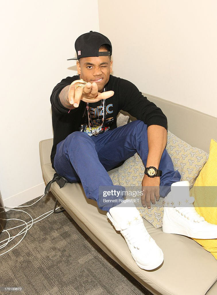 Actor Tristan Wilds poses for a picture backstage during BET's '106 & Park' at BET Studios on July 31, 2013 in New York City.