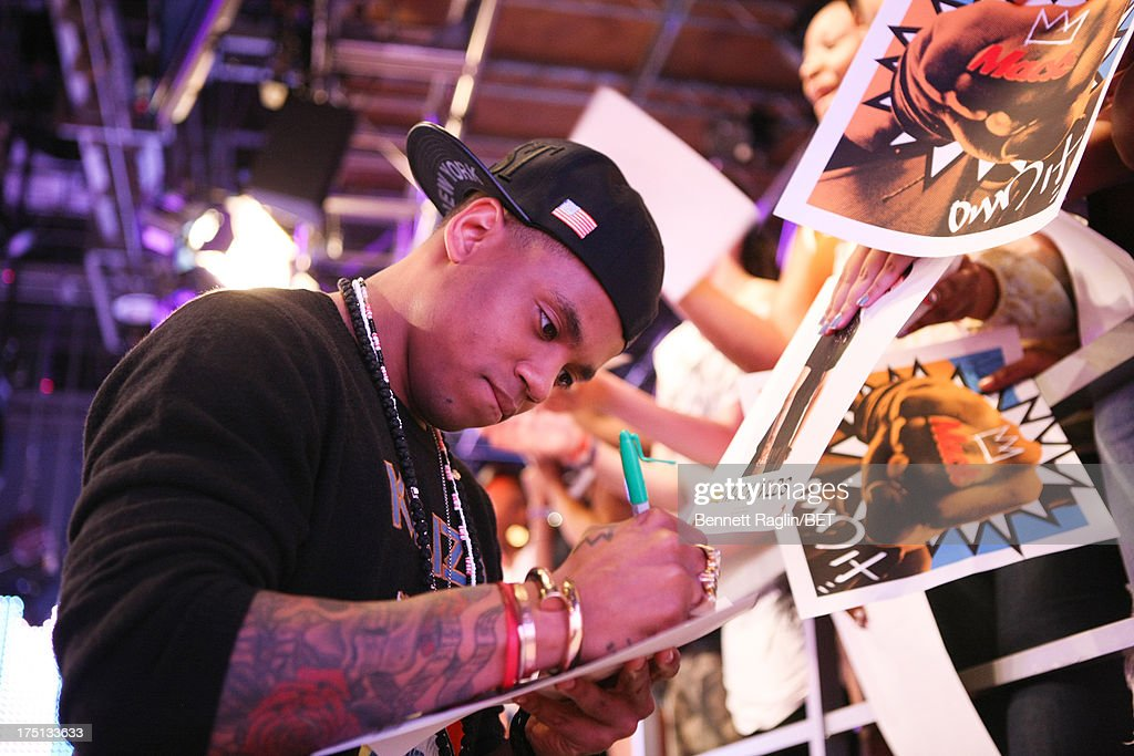 Actor Tristan Wilds visits BET's '106 & Park' at BET Studios on July 31, 2013 in New York City.