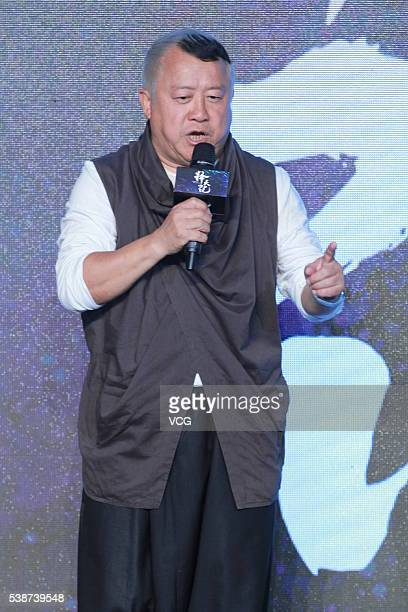 Actor Tsang Chi Wai from Hong Kong attends the booting ceremony of Chinese TV series Fighter Of The Destiny at 22nd Shanghai TV Festival on June 7...