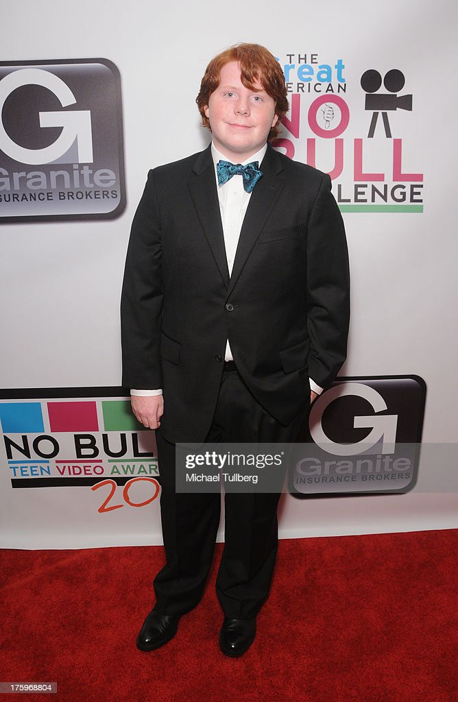 Actor Tucker Albrizzi attends the 2013 No Bull Teen Video Awards at Westin LAX Hotel on August 10 2013 in Los Angeles California