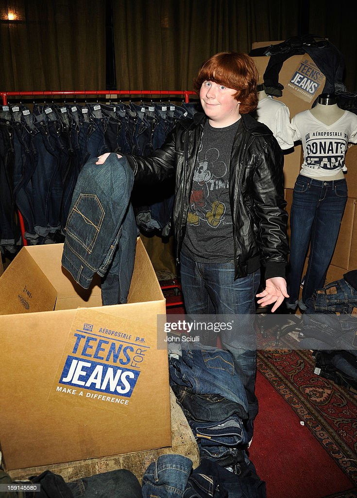 Actor Tucker Albrizzi attends the DoSomethingorg and Aeropostale launch of the 6th annual 'Teens For Jeans' hosted by Chloe Moretz at Palihouse on...
