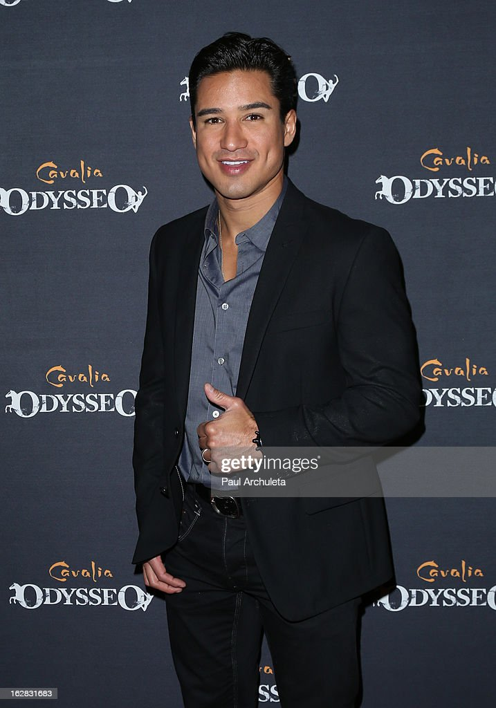 Actor / TV Personality Mario Lopez attends the opening night for Cavalia's 'Odysseo' at the Cavalia's Odysseo Village on February 27, 2013 in Burbank, California.
