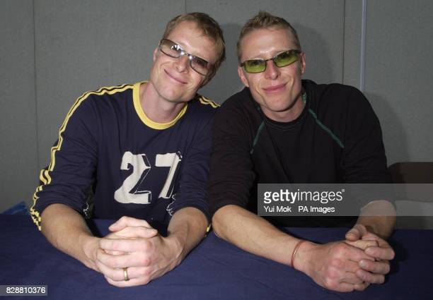 Actor twins Neil and Adrian Rayment who star in Matrix Reloaded during a signing session at the Collectormania 4 film festival and collector's fair...