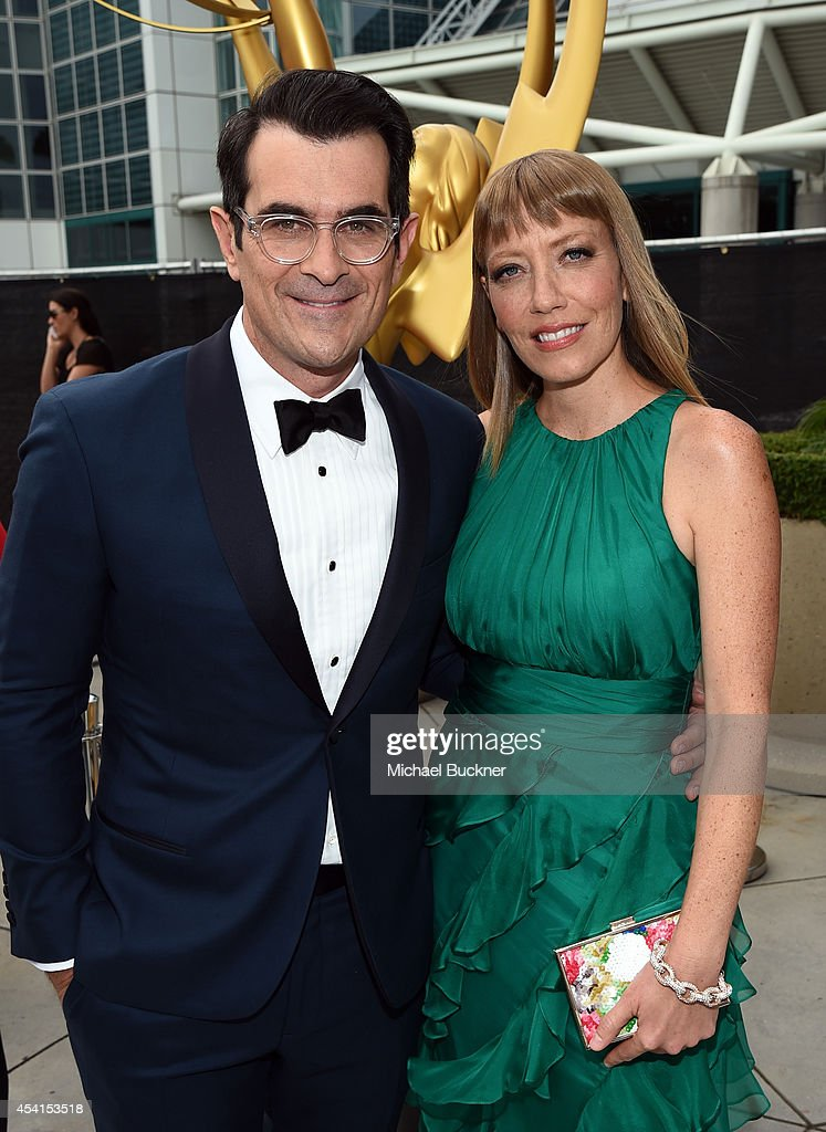 Actor Ty Burrell and Holly Anne Brown attend the 66th Annual Primetime Emmy Awards held at Nokia Theatre LA Live on August 25 2014 in Los Angeles...